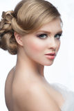 Girl with hairstyle and makeup Royalty Free Stock Photo