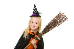 Girl in Halloween attire Royalty Free Stock Images