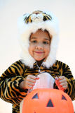 Girl in Halloween Costume Stock Photography