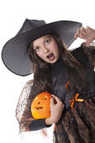 Girl on halloween costume Stock Image