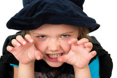 Girl in halloween costume Royalty Free Stock Image