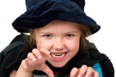 Girl in halloween costume Royalty Free Stock Photo