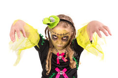 Girl in Halloween costume Stock Image