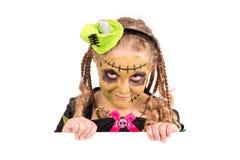 Girl in Halloween costume Royalty Free Stock Image
