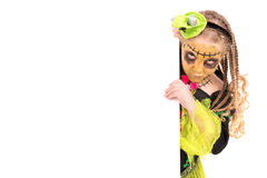 Girl in Halloween costume Royalty Free Stock Photography