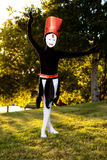 Girl in Halloween Costume Poses. A young girl in a homemade Halloween Costume poses like a dancer Stock Photo