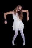 Girl,  halloween face art. On black background Royalty Free Stock Image
