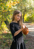 Girl in Halloween style Royalty Free Stock Photos