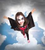 Girl in Halloween vampire costume Stock Photos