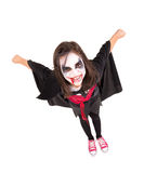Girl in Halloween vampire costume Royalty Free Stock Photos