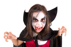Girl in Halloween vampire costume Stock Image