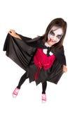 Girl in Halloween vampire costume Stock Photo