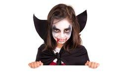 Girl in Halloween vampire costume Royalty Free Stock Photography