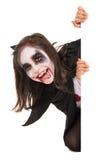 Girl in Halloween vampire costume Stock Photography