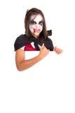 Girl in Halloween vampire costume Royalty Free Stock Images