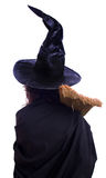 Girl in Halloween witch Royalty Free Stock Photos