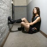 Girl in hallway. Stock Image