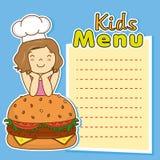 Girl with hamburger Royalty Free Stock Photo