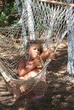 Girl in the hammock Stock Photos