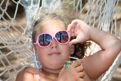 Girl in the hammock Stock Image