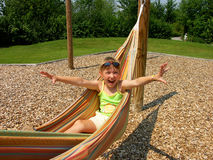 Girl in a hammock Royalty Free Stock Photography