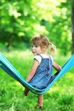 Girl on a hammock Royalty Free Stock Photography