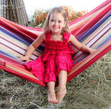 The girl in a hammock Royalty Free Stock Image