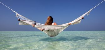Girl in a Hammock Stock Photography