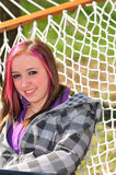 Girl on the hammock Royalty Free Stock Photos