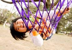 Girl in hammock Stock Image