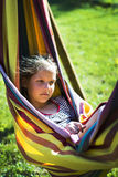 Girl in hammock Royalty Free Stock Photos