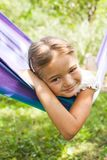 Girl on hammock Royalty Free Stock Photo