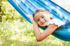 Girl on hammock Stock Photos