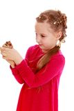 Girl with a hamster Stock Image