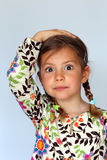 Girl with hand on head Royalty Free Stock Images