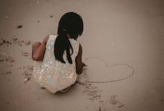 Girl, Hand, Sand, Stock Photography stock photography