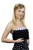 Girl with a handbag Royalty Free Stock Images