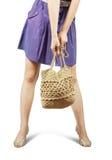 Girl with handbag Stock Photo