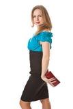 Girl with handbag Stock Photography