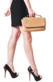 Girl with handbag Royalty Free Stock Photos