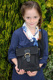 Girl with handbag Stock Photo