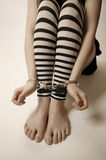 Girl in handcuffs Stock Photography