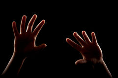 Girl hands arms royalty free stock photo