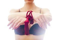 Girl hands tied bondage Royalty Free Stock Photo
