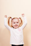 Girl With The Hands Up Royalty Free Stock Photo