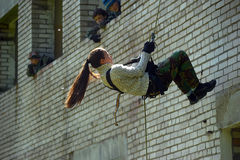 Girl hanging in the air Stock Image