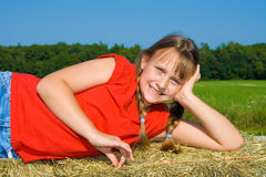 Girl happy. Stock Photo