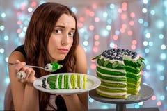 Girl with happy birthday cake Stock Photos