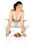 Girl happy with her diet Stock Image