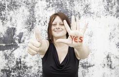 Girl happy and positive Royalty Free Stock Photo